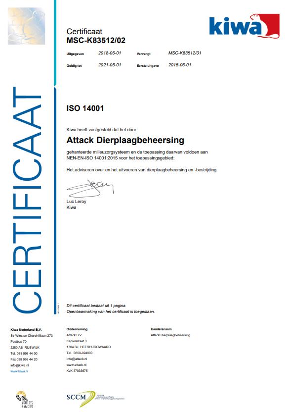 ISO certificaat 14001