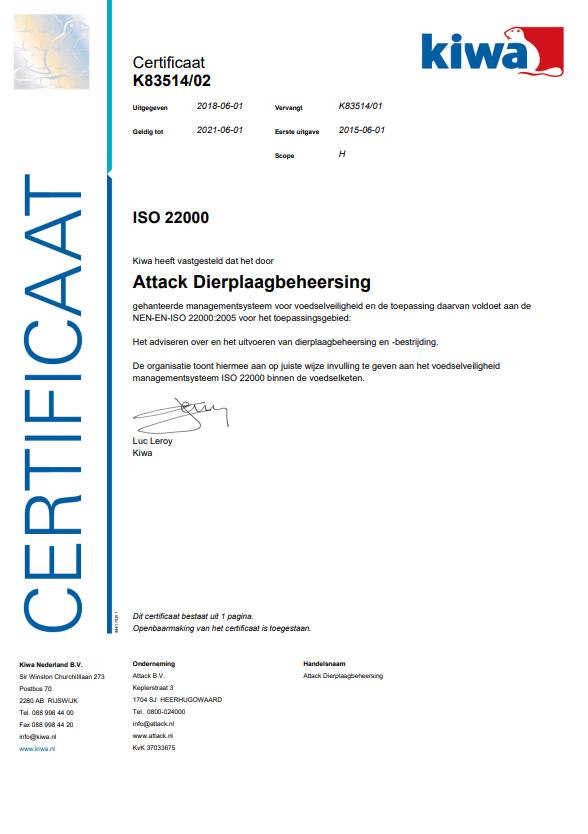 ISO certificering 22000