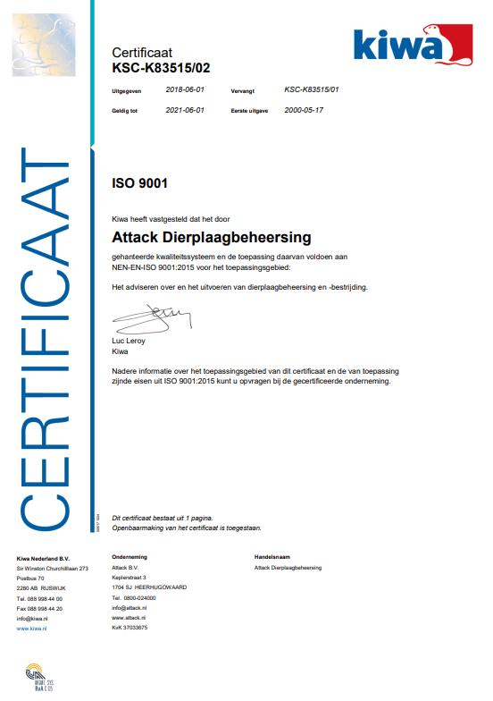 ISO certificaat 9001